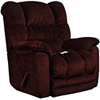 Flash Furniture Massaging Temptation Merlot Microfiber Rocker Recliner with Heat Control