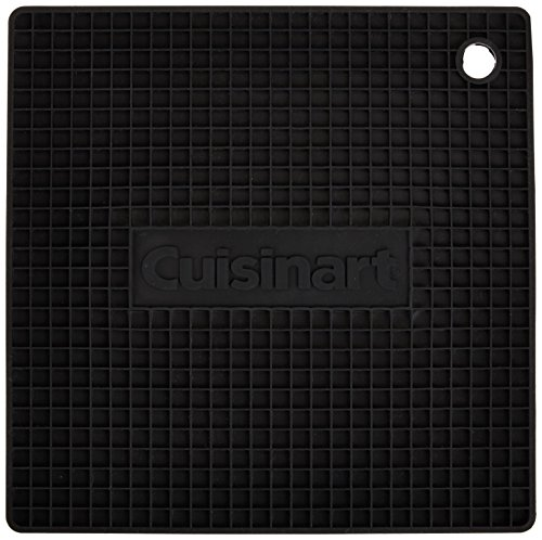 Cuisinart Multipurpose Silicone Kitchen Tool, Trivet/Pot Holder, Spoon Rest, Jar Opener, Coaster, Heat Resistant Pad, Black