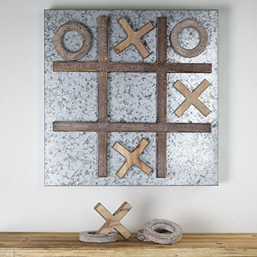 American Art Décor Hanging Magnetic Message Memo Board Tic Tac Toe ()