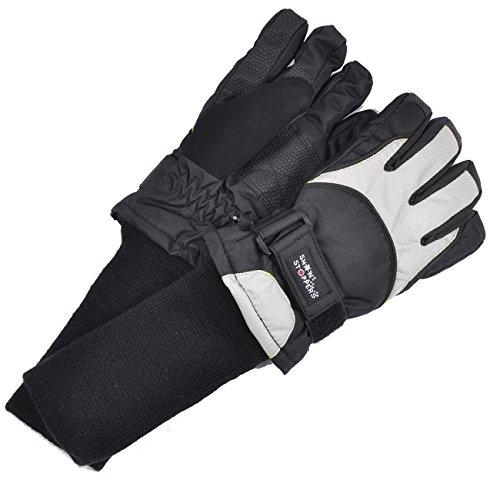 SnowStoppers Kid's Waterproof Ski & Snowboard Winter Gloves Medium / 8-12 Years Grey by SnowStoppers