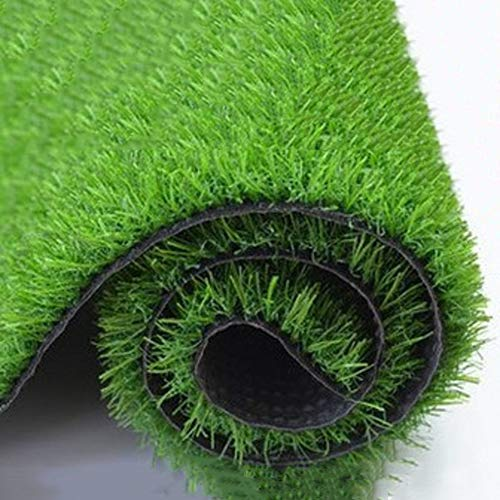 YEYE Artificial Fake Grass Mat,20mm Outdoor & Indoor Synthetic Lawn Realistic Pet Turf Decoration High Density Grass Rug-Green 100x1600cm(39x630inch) ()
