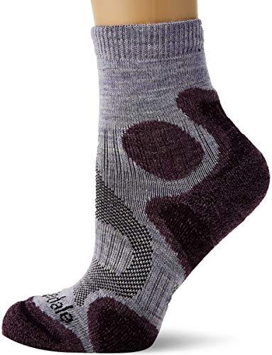 Bridgedale Women's Lightweight T2 Trail Sport - Merino Cool Comfort Socks, Heather/Damson, ()