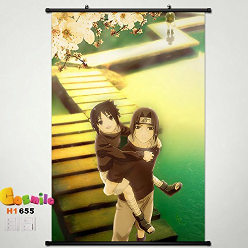 Home Decor Anime Naruto Sasuke Uchiha Itachi Wall Scroll Poster Fabric Painting 23.6*35.4 655