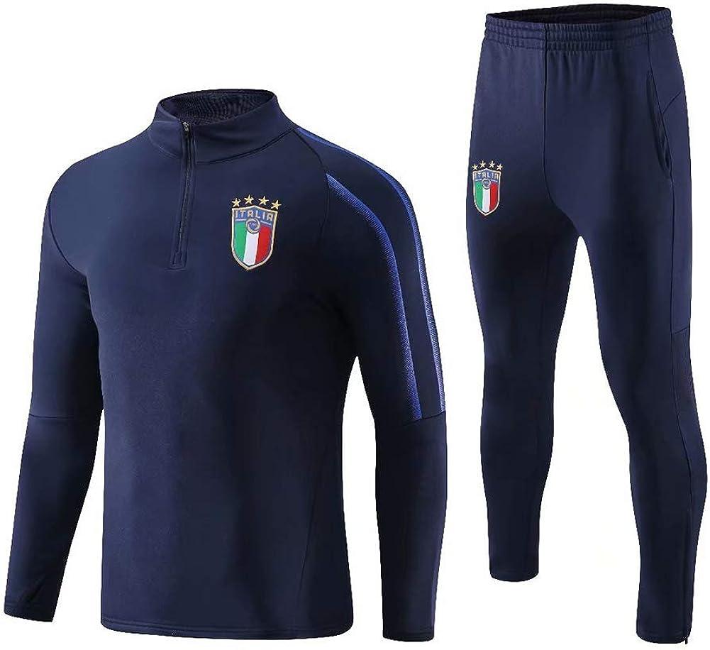 大人のイタリアのサッカーの外観スポーツジャケットセーター長袖セット高襟メンズジャケット  XXXXL