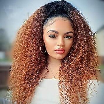Amazon Com Black Auburn Blonde Ombre Human Hair Full Lace Front