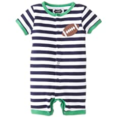 Mud Pie Baby-Boys Newborn Football Creeper
