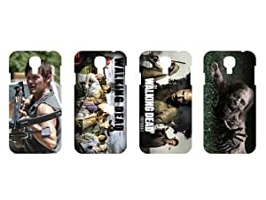 Wholesales 4pcs the Walking Dead Fashion Hard Back Cover Skin Case for Samsung Galaxy S4 I9500-s4wd4003