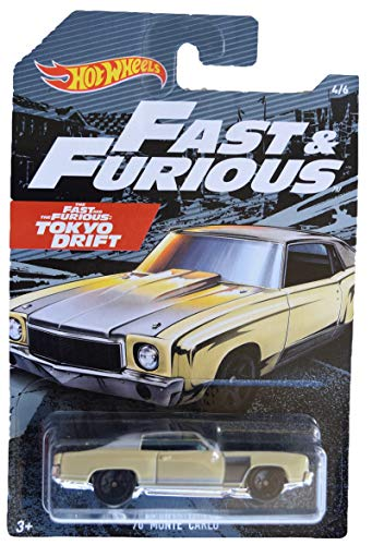 Hot Wheels Fast & Furious '70 Monte Carlo 4/6, tan (Fast And Furious Tokyo Drift Cars For Sale)