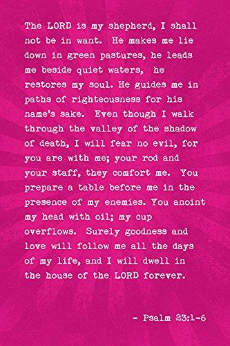 bible verse the lord is my shepherd