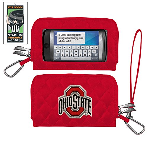 Ohio State Buckeyes Quilted Cell Phone Wallet