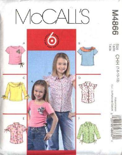 McCall s patrón de costura 4866 Niñas Talla 3 – 6 Fácil ...