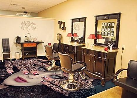 3d parete pavimento in vinile pvc pavimenti parrucchiere shop