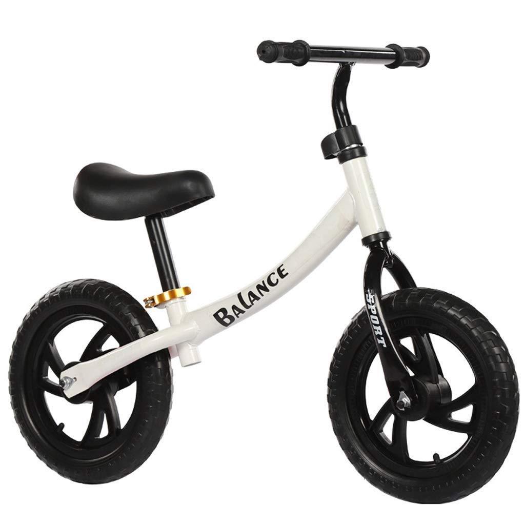 バランシングバイク、32cm(12インチ)バランスバイク - ペダルスポーツトレーニング自転車なし、年齢18ヶ月5年キッズ、ランニングバイクブラック/ピンク/ホワイト ZHAOFENGMING (Color : White, Size : 12 Inch) B07TCGVZ7X White 12 Inch