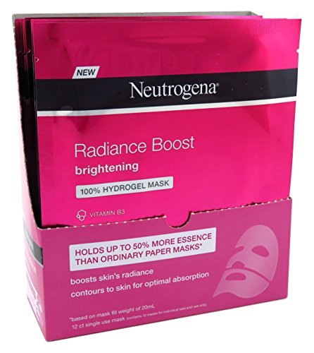 Neutrogena Radiance Boost Brighten Hydro Mask 1 Ounce (12 Pieces) (30ml)