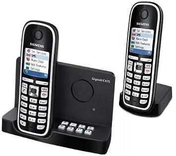 Gigaset C Duo Téléphone Sans Fil DECT Combinés Amazonfr High - Téléphone sans fil longue portée