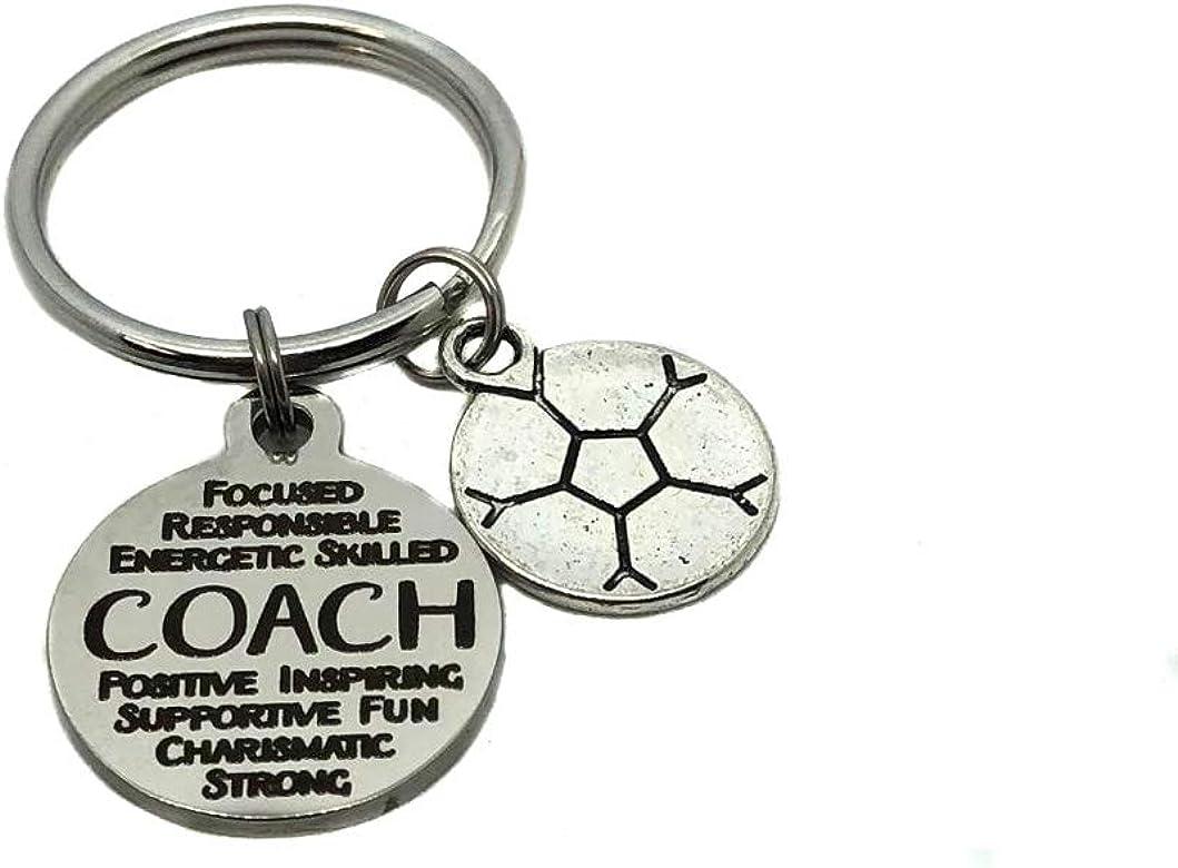 Coach balón de fútbol, llavero, cadena de clave bolsa encanto ...