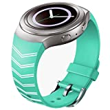 Tevies® TPU Silicone Watch Band Strap For Samsung Galaxy Gear S2 SM-R720 (Green 3)