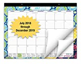 "Desk Calendar 2018-2019: Large Monthly Pages - 22""x17"" - Runs from July 2018 Through December 2019 - Desk/Wall Calendar can be Used Throughout 2018-2019."