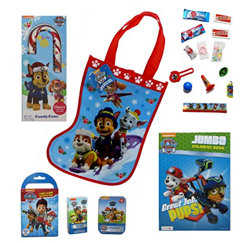 [Paw Patrol Stockings Full of Goodies] (Halloween Costumes Ideas For Girls Age 12)