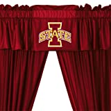 NCAA Iowa State Cyclones - 5pc Jersey Drapes Curtains and Valance Set