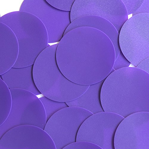 Round Sequin Paillettes 50mm No Hole Purple Opaque Vinyl Loose Couture Paillettes