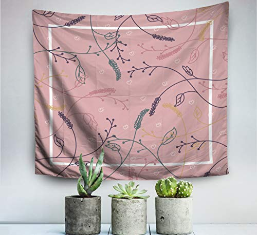 Pamime Home Decor Tapestry for Contemporary Art Floral Scarf Background Wall Tapestry Hanging Tapestries for Dorm Room Bedroom Living Room(50x60 Inches(130x150cm) ()