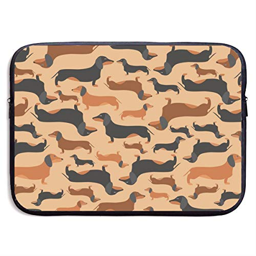 LiaanQianga Retro Dachshunds Pattern 13-15 Inch Laptop Sleeve Bag - Tablet Clutch Carrying Case,Water Resistant, - Notebook Carrying Case Clutch
