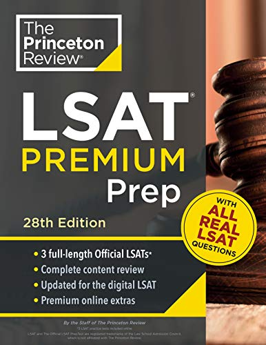 Princeton Review LSAT Premium Prep, 28th Edition: 3 Real LSAT PrepTests + Strategies  Review + Updated for the New Test Format (Graduate School Test Preparation) best to buy