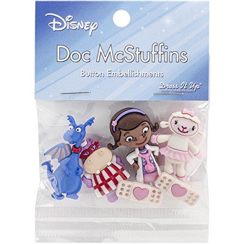 Dress It Up 7731 Disney Button Embellishments, Doc McStuffins