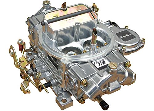 (Proform 67258 Street Upgrade Series 770 CFM Polished Aluminum Dual Inlet 4-Barrel Square Bore Vacuum Secondary Carburetor with Electric Choke)