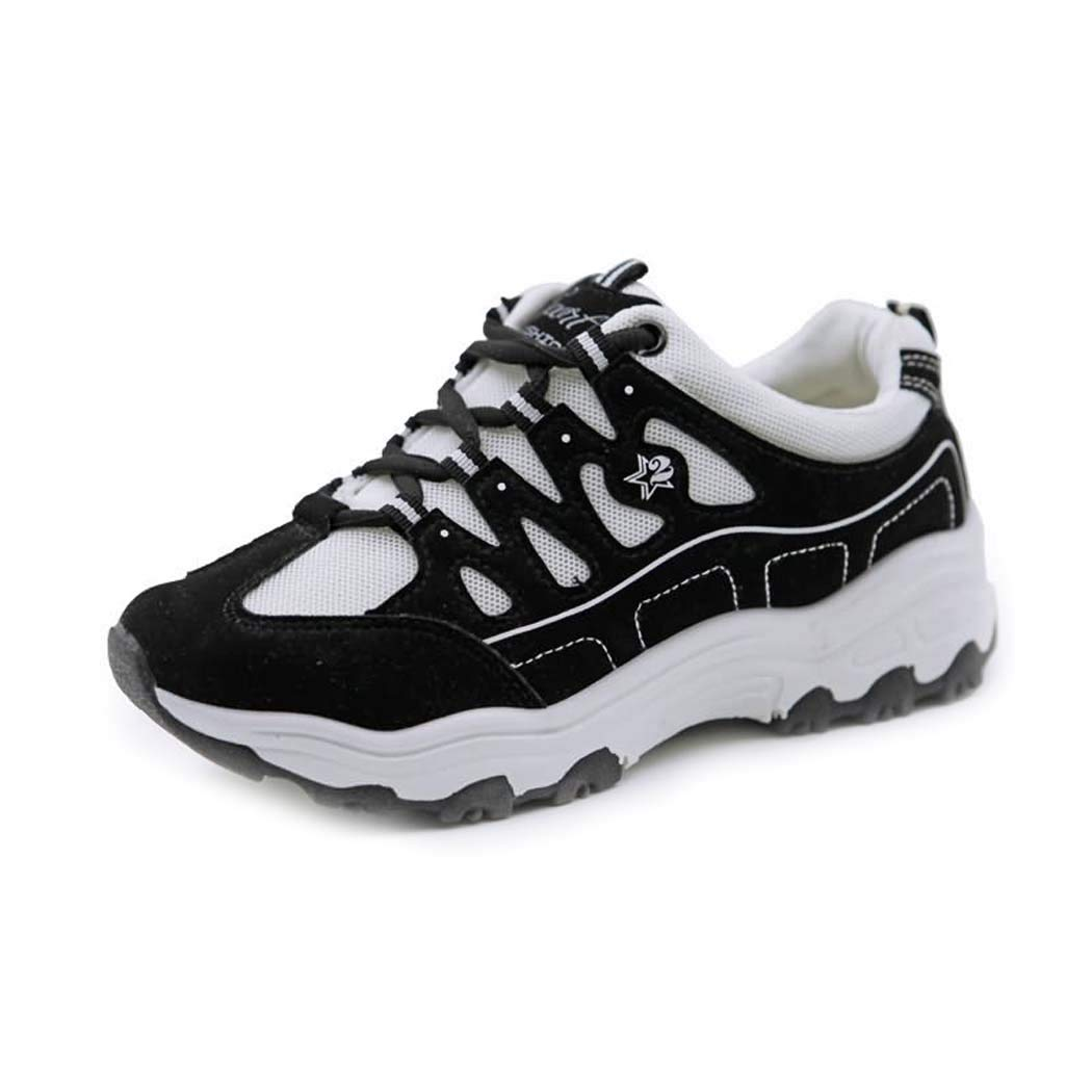 Blackandwhite 38 Women's Sports and Leisure Running shoes Jogging Fitness shoes Comfortable Breathable Fashion Sports shoes