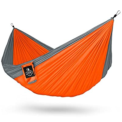 Archer Double Nest Parachute Camping Hammock - Ropes & Carabiners Included