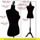 Female White Linen-like fabric Mannequin Dress Form (On Black Tripod Stand)
