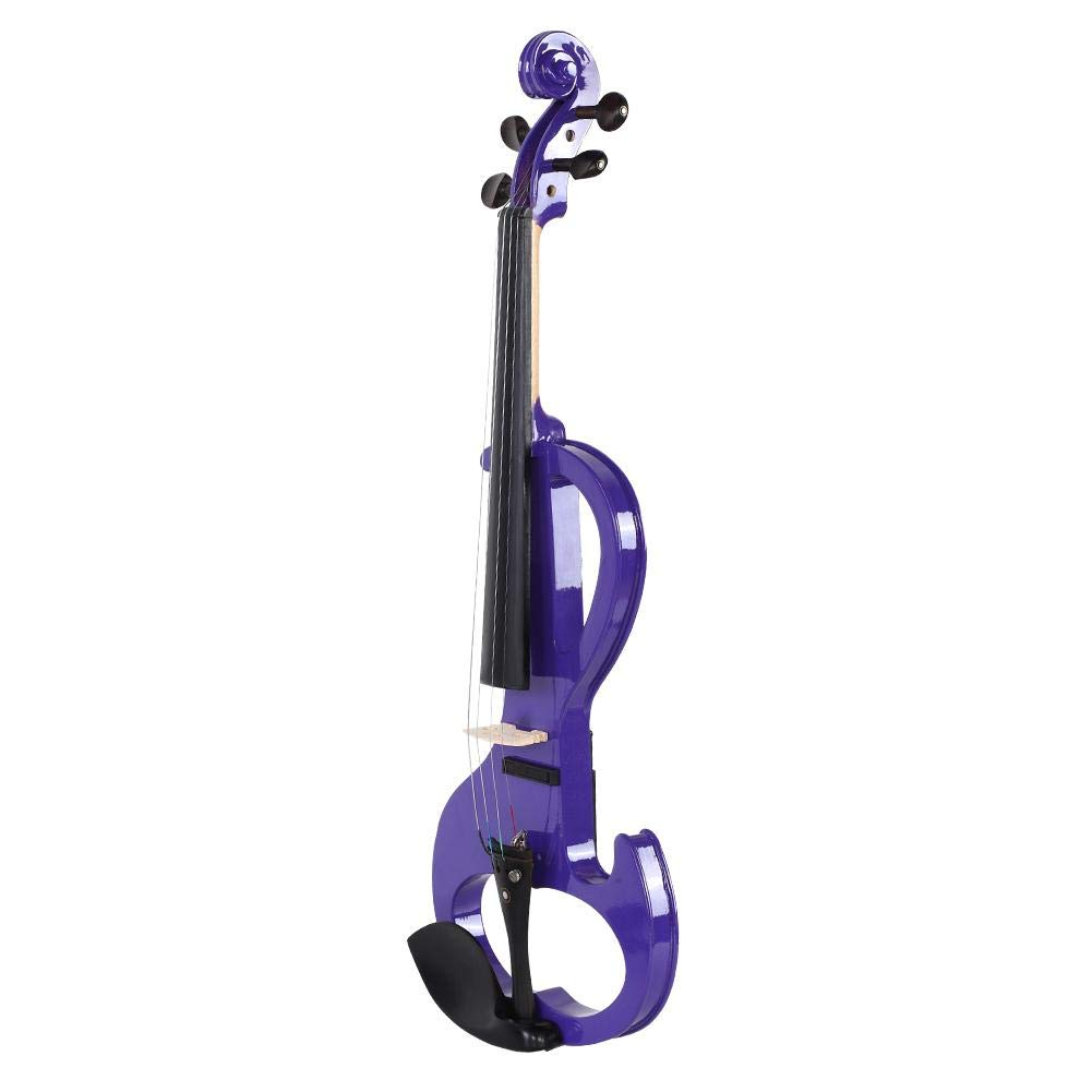 Zetiling Violin, 4/4 Full Size Electric Violin Musical Instrument Purple with Case Bow Rosin for Beginner by Zetiling