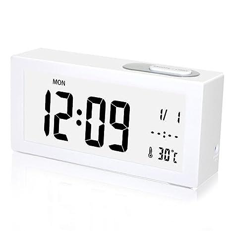 Reloj digital despertador con rectángulo digital y reloj despertador creativo Reloj despertador digital creativo y sencillo