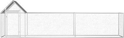 Gabbia per Conigli conigliera pollaio 3x1x1,5 m Wakects Pollaio da Esterno con Tetto Impermeabile Pollaio da Giardino per Galline ovaiole Pollaio Grande in Acciaio Zincato