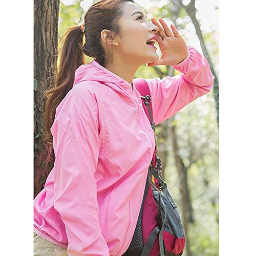 En UV pour Camping de Unisexe Air Femme Impermable Homme Plein Activit Dihope Veste Pluie Rose de Anti Randonne Cyclisme Capuche Pluie vaTaOxqn