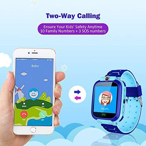 Reloj Niños Smartwatch LBS/GPS Pantalla Táctil Kids Safe Anti-Pérdida SOS para Android e iOS Smartphone (Azul): Amazon.es: Electrónica