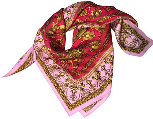 saks-fifth-avenue-black-gold-silk-square-scarf-35-pink