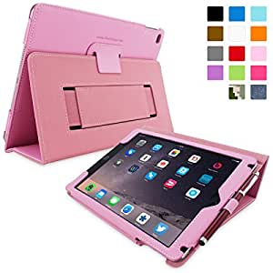iPad Air (iPad 5) Case, Snugg™ - Smart Cover with Flip Stand & Lifetime Guarantee (Candy Pink Leather) for Apple iPad Air (2013)