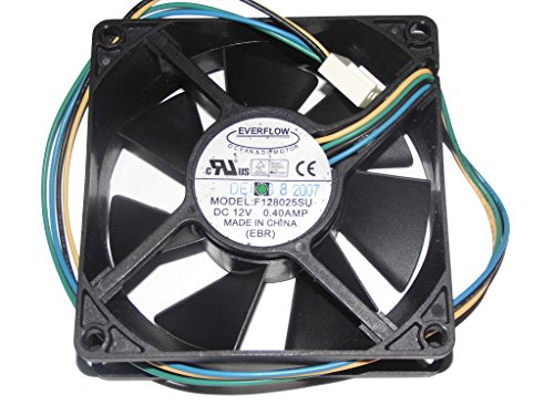 Generic 8cm F128025su 12v 0.4a 4wire Everflow Cooling Fans