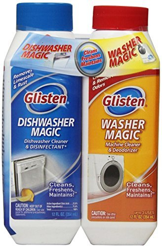 Glisten MDAO6T Dishwasher Magic/Washer Magic 2 Packs of Twin Pack-Includes 12 ounces of Dishwasher Magic and 12 ounces of Washer Magic''