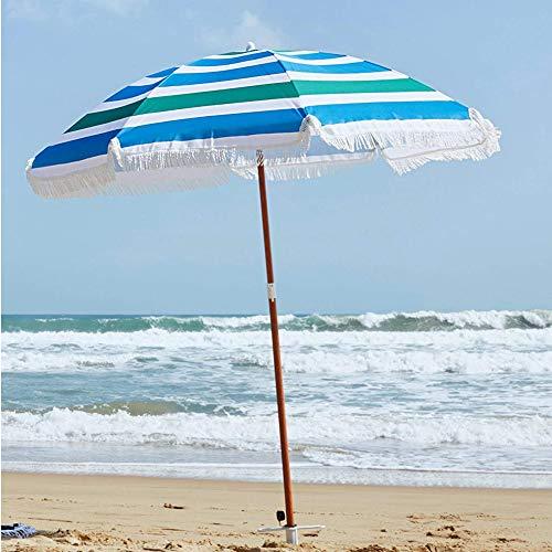 Ombrellone Mare In Legno.Bakaji Ombrellone Da Mare Spiaggia Giardino 180 Cm Con Palo In