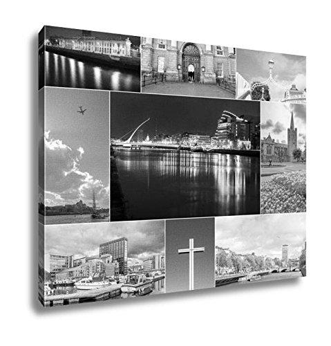 Ashley Canvas Dublin Photos Collage  Home Office  Ready To Hang  Black White 20X25  Ag5678713