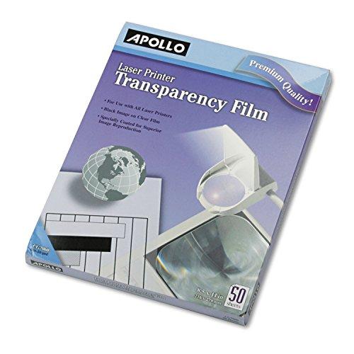 Apollo CG7060 B/W Laser Transparency Film, Letter, Clear, 50/Box