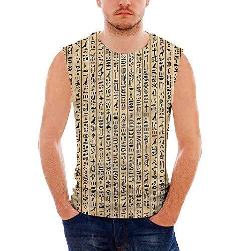 an Ultra Cotton Tank,Ancient Hieroglyphs Grunge Pattern on ()