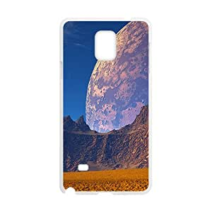 Abstract Planets And Mountains White Phone Case for Samsung Galaxy Note4
