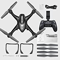 RC Drone S30W 2.4GHz GPS FPV RC Drone Quadcopter with 720P HD Camera Wifi Headless Mode 2.4GHz Mode 2 (Black)