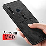 Samsung M40 Cover Mobistyle Deer Series Soft Fabric Case with Anti Slip Grip and Camera Protection Hybrid Protective Back Cover Case for Samsung M40 (Black)