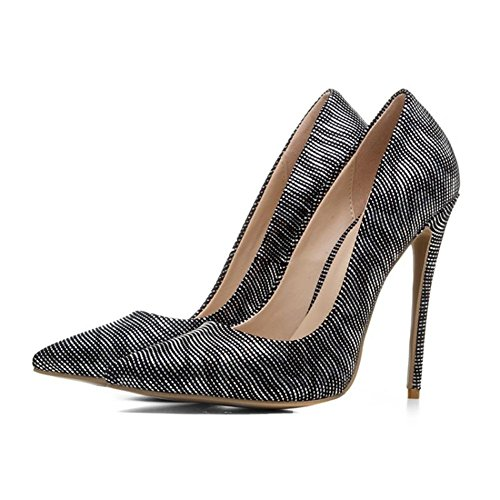 Chaussures Pied Haute Pointu Stylet Or Sexy Fermé Robe 35 de Talons SILVER EUR35UK4 Taille Pompes Femmes Travail NVXIE Intelligent Doigt 43 PWwxtqEX8n